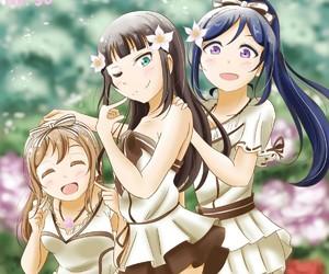 azalea, matsuura kanan, and kurosawa dia image