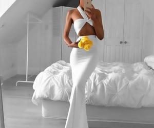 fashion, dress, and flower image