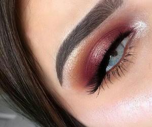 eyes, makeup, and blue eyes image