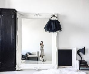 black and white, classic, and living room image
