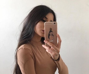 beige, black, and iphone image
