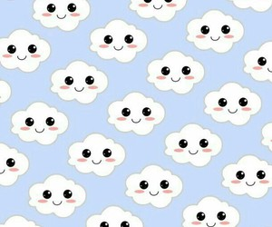 wallpaper, clouds, and cute image