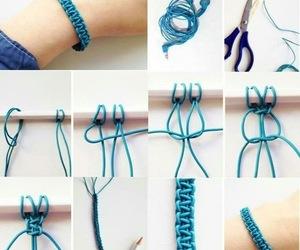 diy, bracelet, and blue image