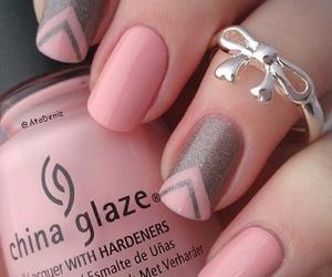 glitter, grey, and nail art image