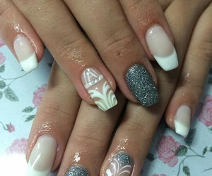 beautiful, nails, and silver image