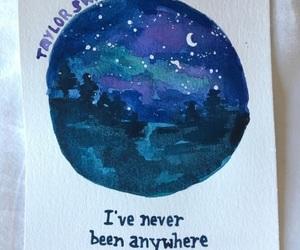 dark blue, Lyrics, and stars image