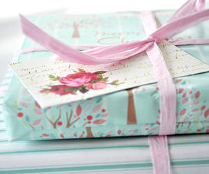 gift, pink, and blue image