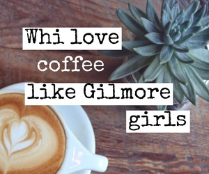 coffee, easel, and gilmore girls image