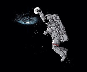 wallpaper, space, and astronaut image