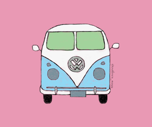 drawing, kombi, and outlines image