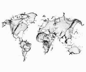 black and white and world image