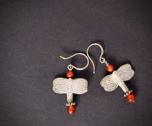 etsy, nature earrings, and dangling earrings image
