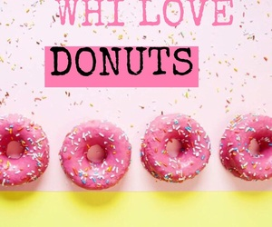 background, donuts, and easel image