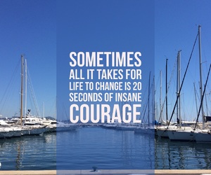 change, courage, and happy image
