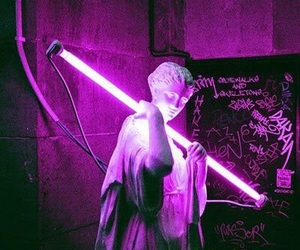 purple, neon, and grunge image