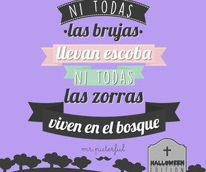 Halloween, frases graciosas, and bosque image