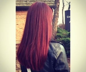 color, straight hair, and red hair image