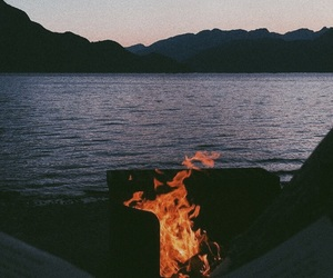 beautiful, bonfire, and book image