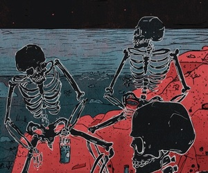 grunge, skeleton, and theme image