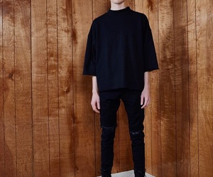 black, clothing, and fear of god image