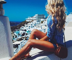 summer, Greece, and hair image