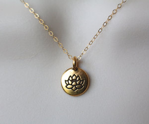 etsy, gold jewelry, and dainty necklace image