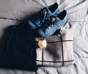adidas, blue, and cold image