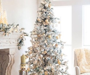 christmas, silver, and tree image