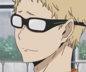 anime, haikyuu, and tsukishima kei image