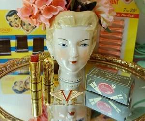 lipstick, makeup, and pinup image