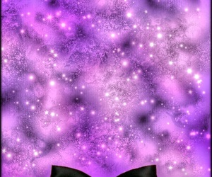 background, bow, and galaxy image