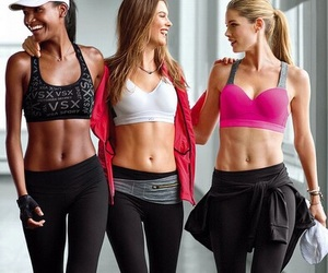 fitness, fit, and Victoria's Secret image
