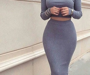fashion, grey, and clothes image