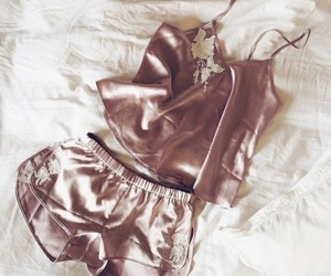 silk, lingerie, and pink image