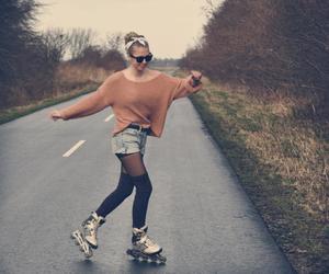 girl, skate, and vintage image