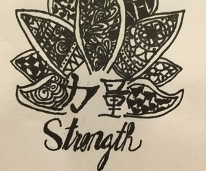 chinese, lotus flower, and Sharpie image