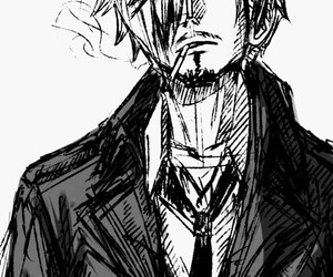anime, smoking, and sanji image