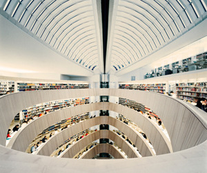 library, architecture, and design image