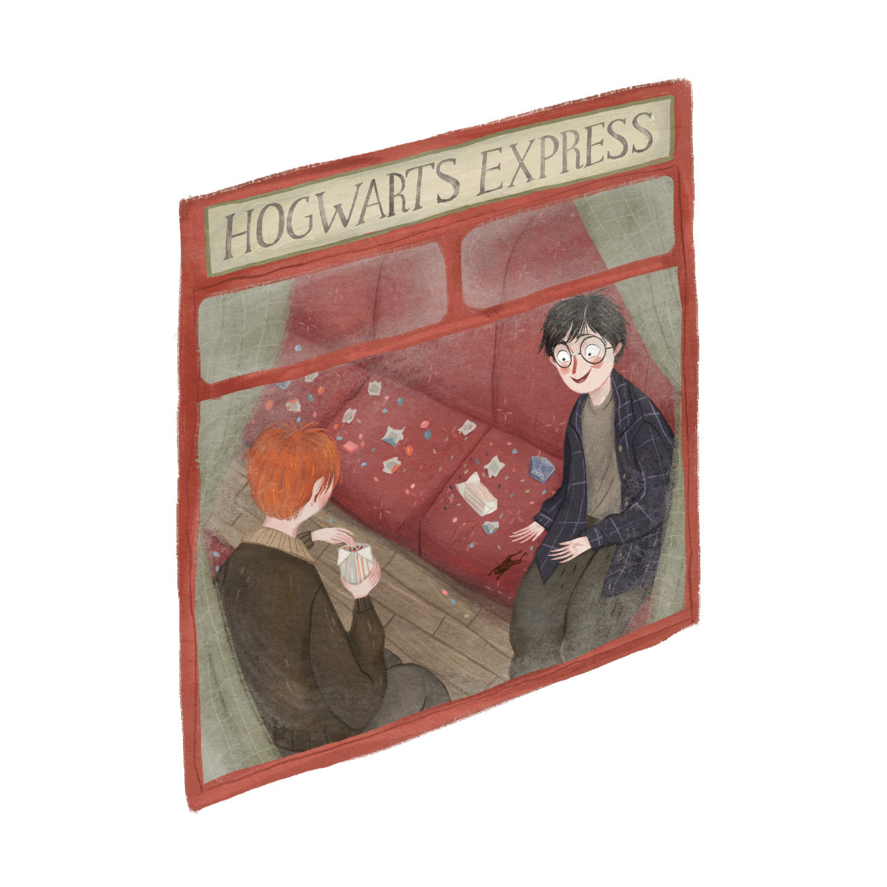 harry potter and illustration image