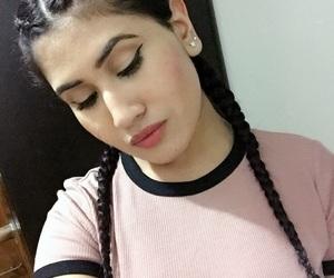 beauty, braids, and eyeliner on fleek image