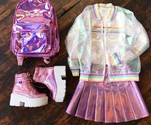 fashion, rainbow, and aesthetic image