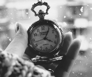 clock, time, and snow image