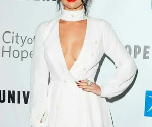 selena gomez, white drees, and drees image