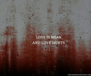 hurt, love, and pain image
