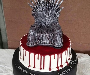 cake, game of thrones, and got image