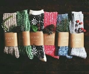 christmas, winter, and socks image