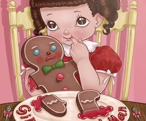 melanie martinez, gingerbread man, and cry baby image