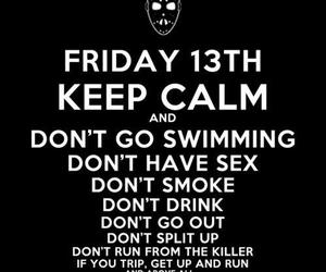 drink, friday the 13th, and keep calm image