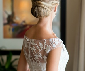 hairstyle, updo, and wedding image