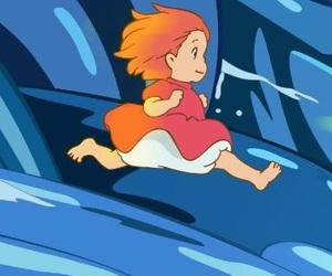 ponyo on the cliff by the sea, wallpaper, and wallpapers image